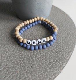 Set van 2 armbandjes Mama Naturel-blauw