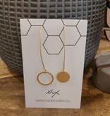 Oorbellen lang goud asymmetrisch klein