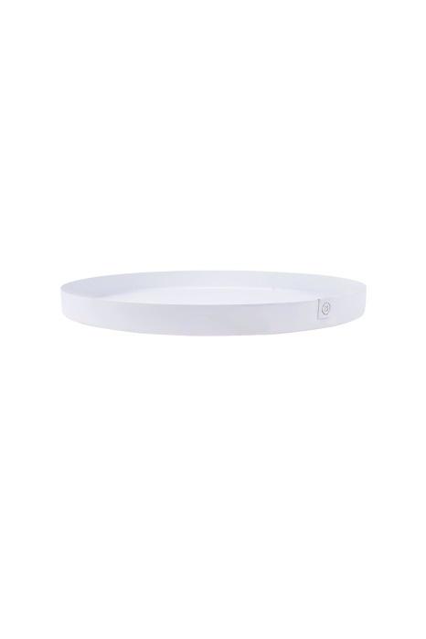 Dienblad/Stylingbord metaal 40cm - Wit - Zusss