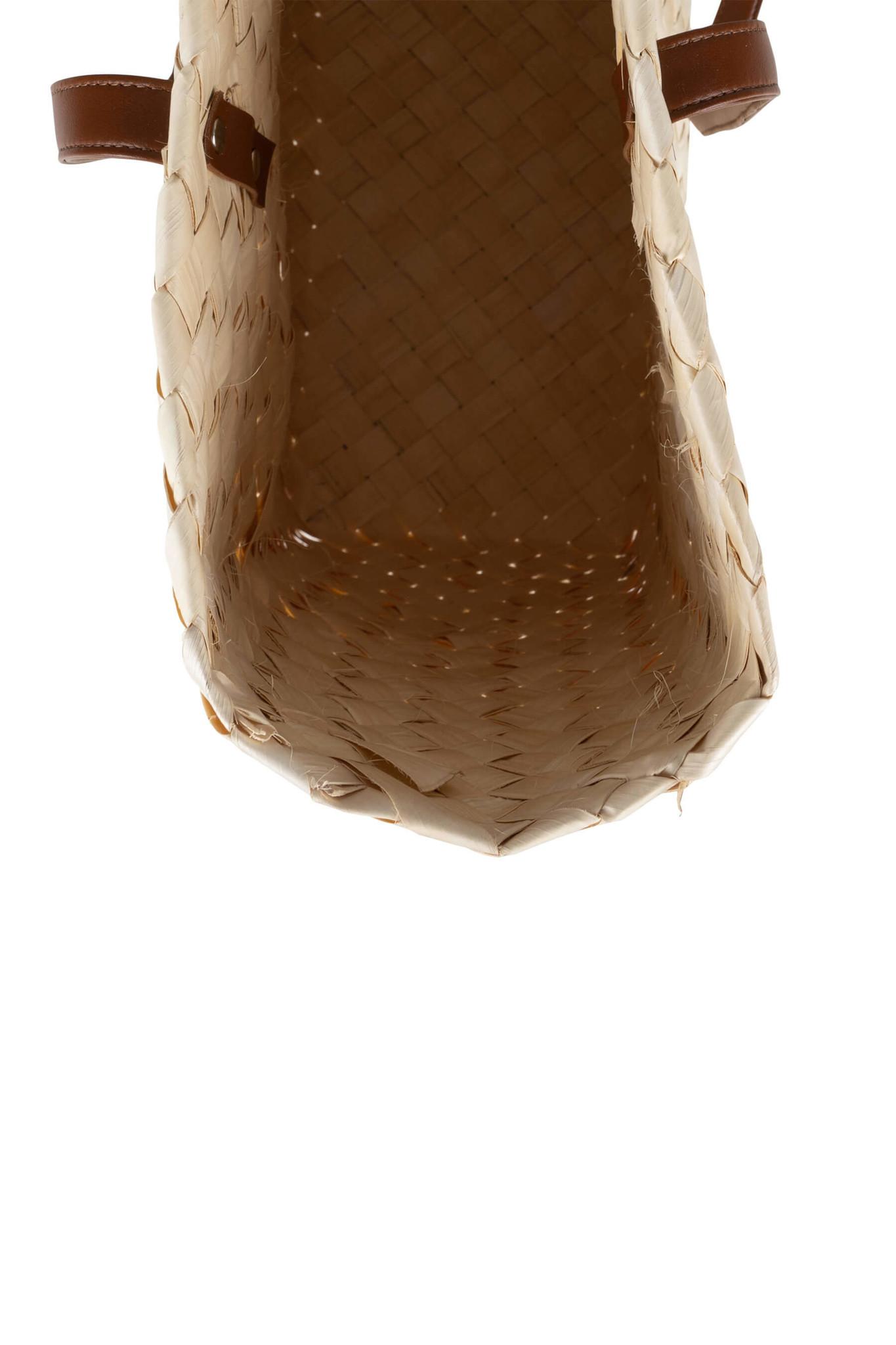 Hippe shopper gevlochten palmblad Zusss