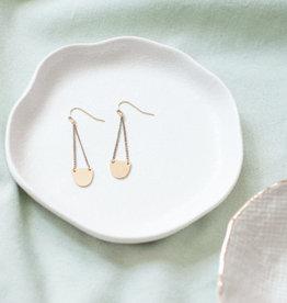 Oorbellen Brass happy moon drops Inimini Homemade