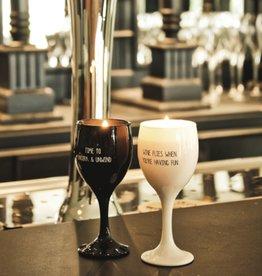 Wijnglas-kaars -2 kleuren