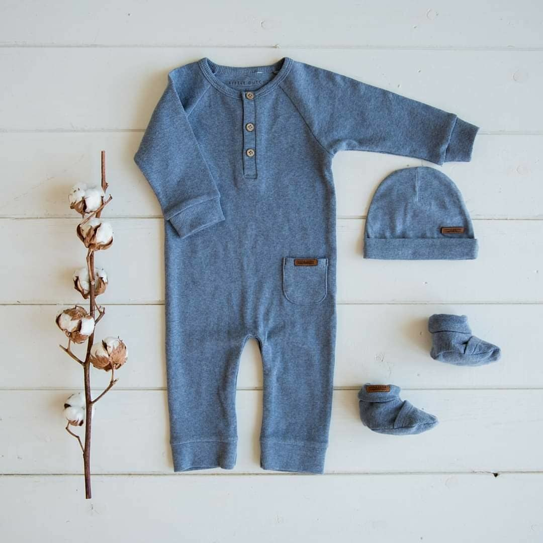 Babyslofjes - Blauw melange