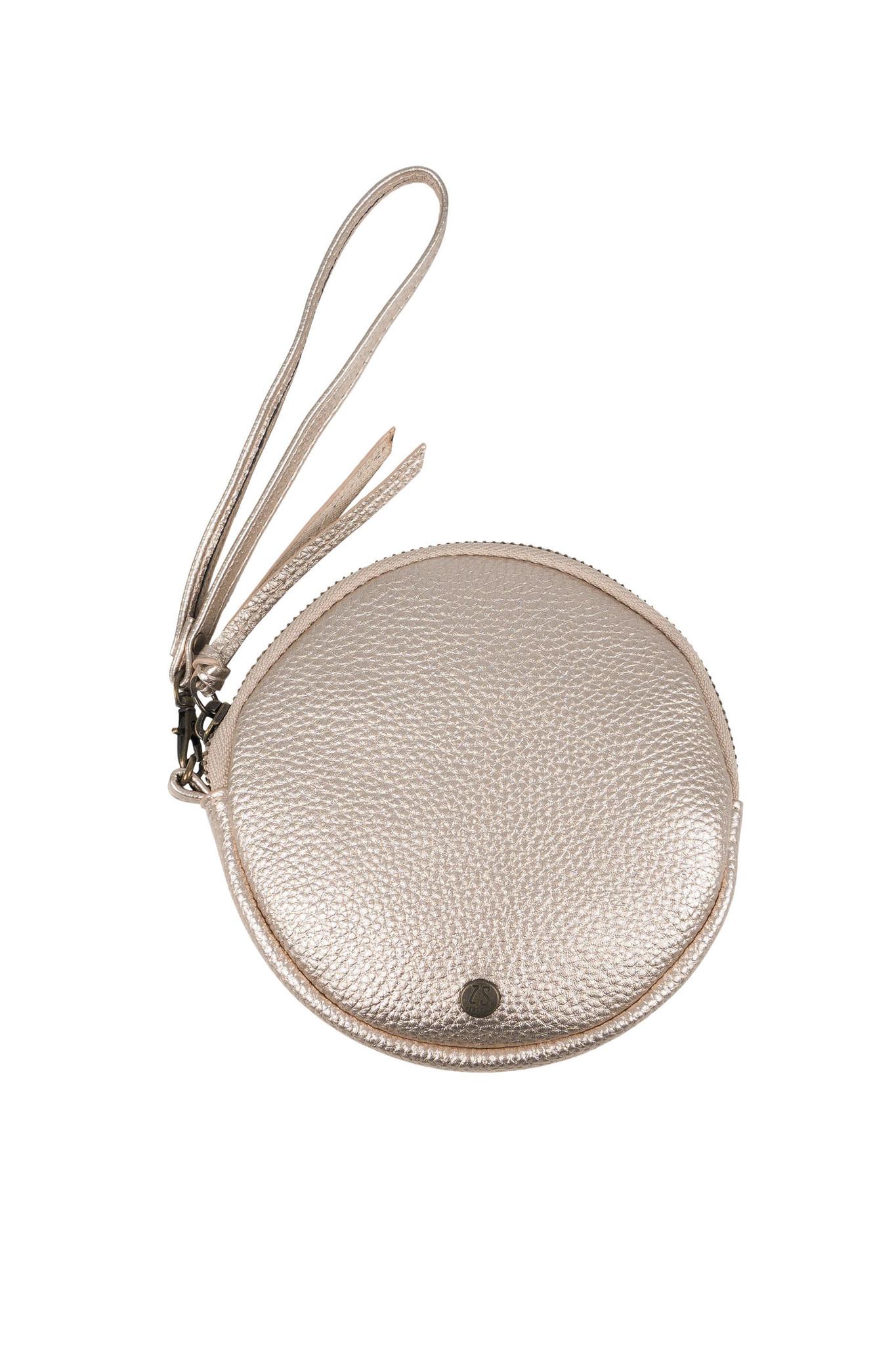 Rond tasje (portemonnee) zusss - goud metallic