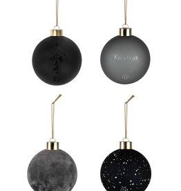 Kerstballen Off-black  Zusss