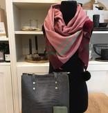 Sjaal met pompons - Rood