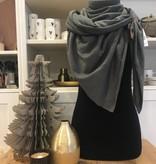 Sjaal Fien Grijs-groen Lot83