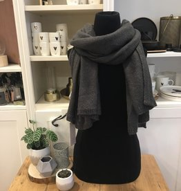Warme brei sjaal grafiet Zusss