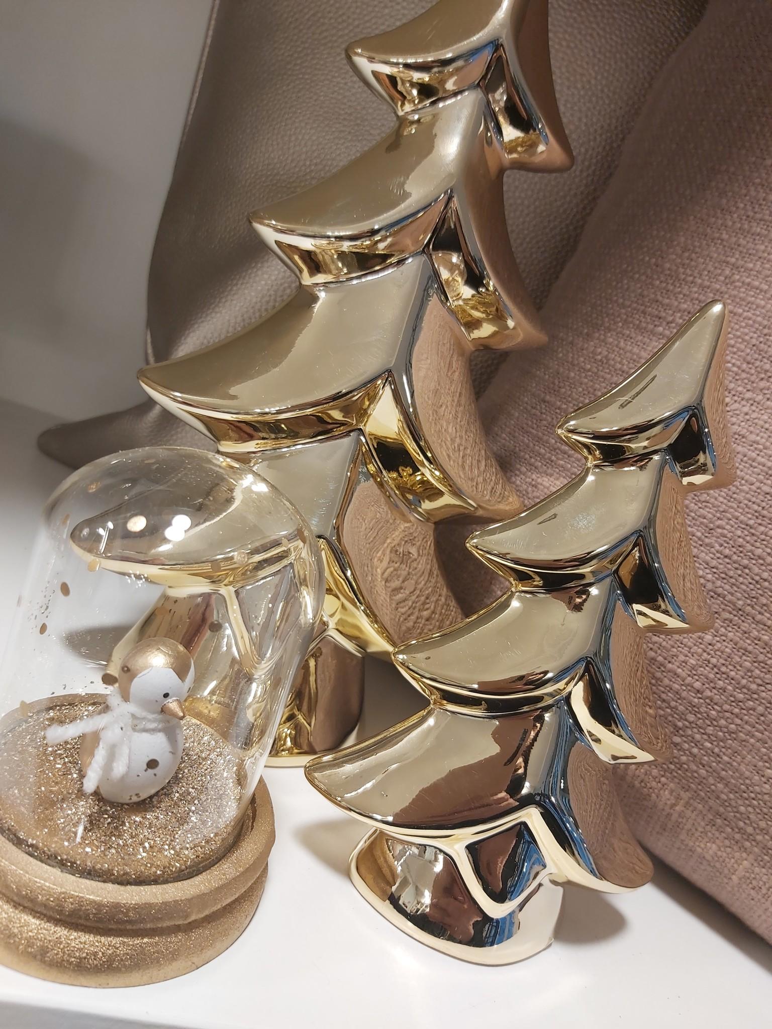 Kerstboom blinkend goud klein