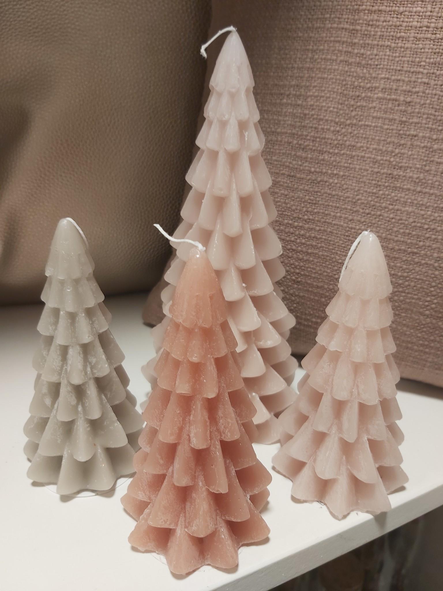 Kerstboom-kaars klein 13cm