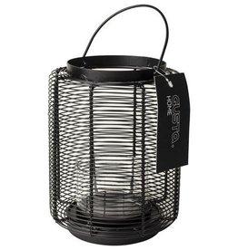 Zwart windlicht / lantaarn