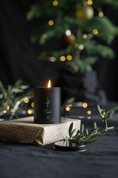 Geurkaars in blik Noël zwart - Zusss