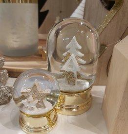 Gouden globe met kerstboom