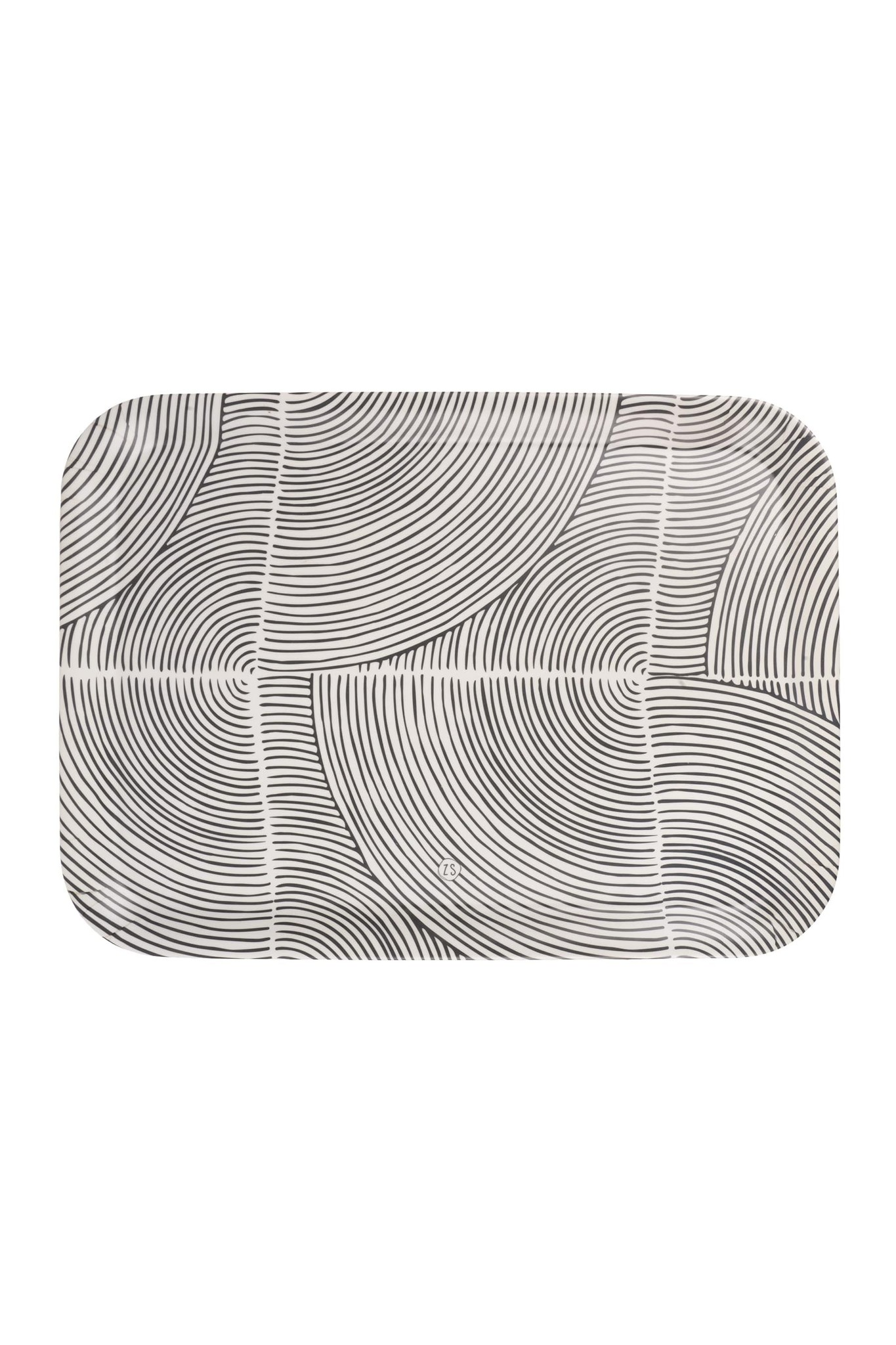 Dienblad grafisch patroon 43x32cm Zusss