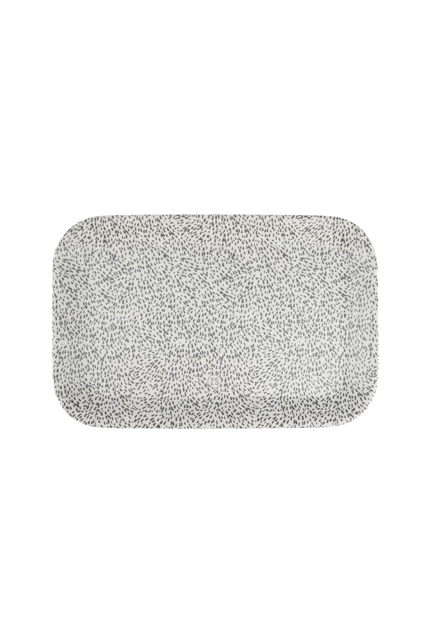 Dienblad spikkels 29x19cm Zusss