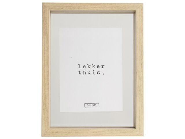 Fotolijst Geniet / Lekker thuis