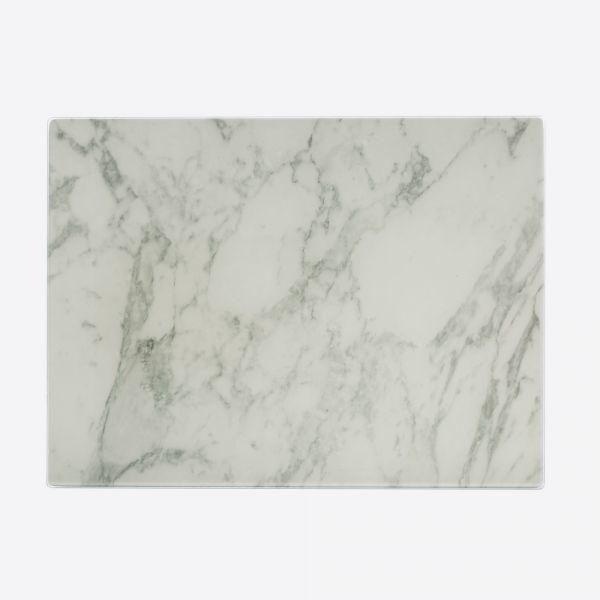 Glazen werkbladbeschermer marble - groen