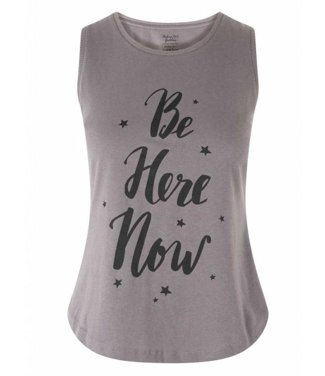 Urban Goddess Yoga Tank Be Here Now - Volcanic Glass