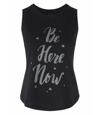 Urban Goddess Yoga Tank Be Here Now - Urban Black