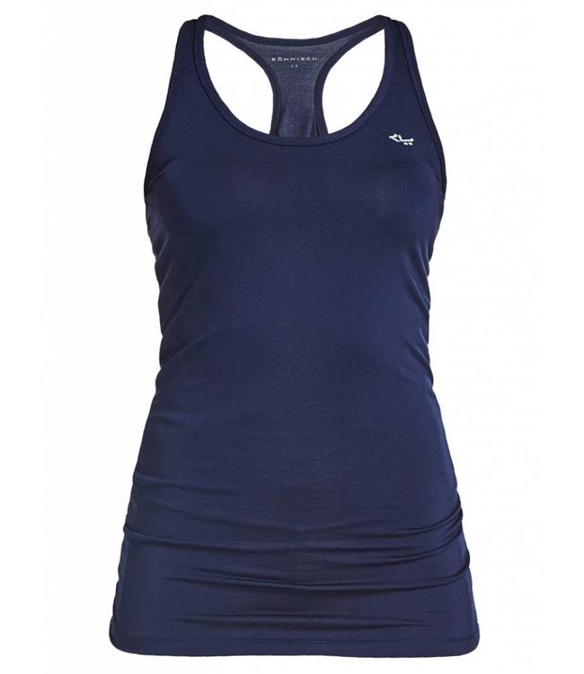 Rohnisch Yoga Top Long Racerback - Indigo Night