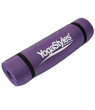 YogaStyles Yoga Mat Extra Dik 10 mm Hatha/Meditatie/Yin