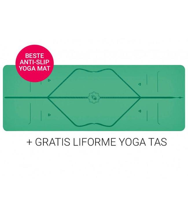 Liforme Yoga Travel Mat Super Grip Green 2 mm