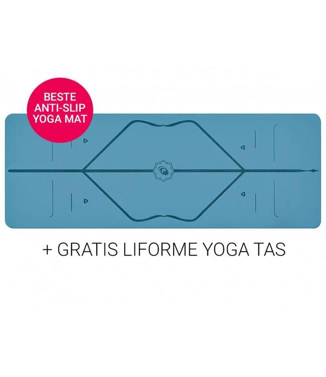 Liforme Yoga Travel Mat Super Grip Blue 2 mm