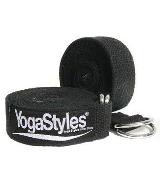 YogaStyles Yoga Riem Zwart - 244 cm x 4 cm