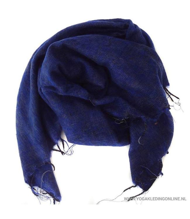 Yogi & Yogini Meditatie Omslagdoek Blauw/Zwart/Grijs
