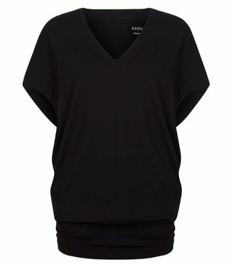 Asquith Yoga Shirt Freedom Tee - Jet Black - PRE ORDER
