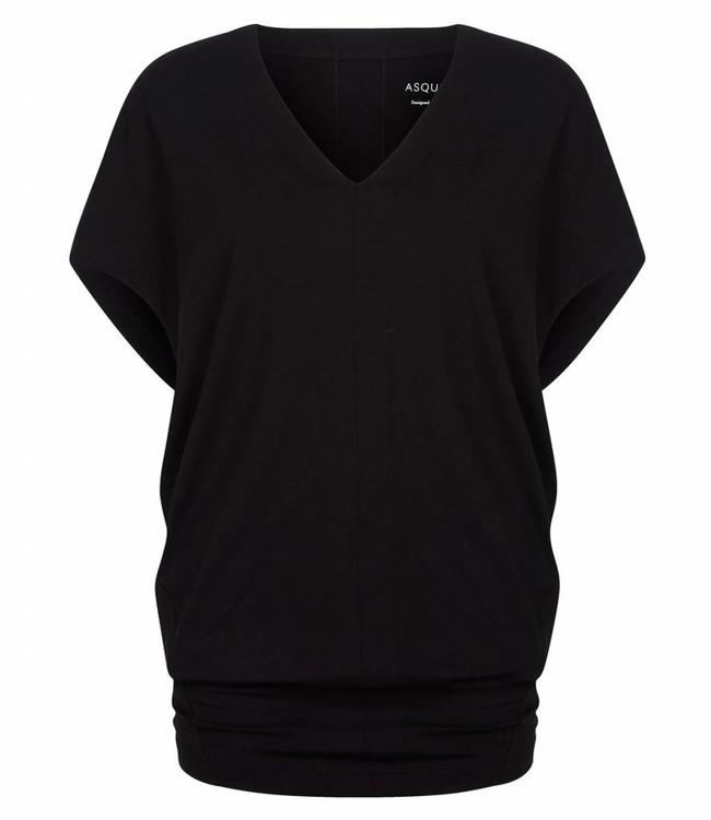 Asquith Yoga Shirt Freedom Tee - Jet Black