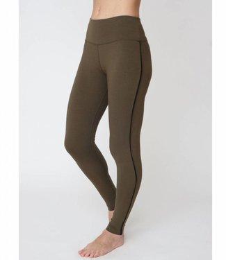Asquith Yoga Legging Flow With It - Khaki/Jet Black