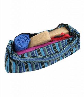 Yogi & Yogini Yogamat Tas XL Multicolor Blauw/Groen