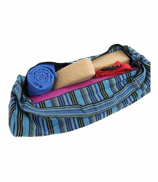 Yogi & Yogini Yogamat Tas XL - Multicolor Blauw/Groen