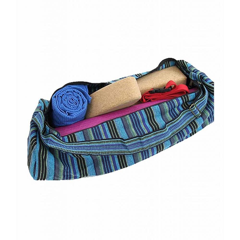 Yogi&Yogini Yogamat Tas XL - Multicolor Blauw/Groen