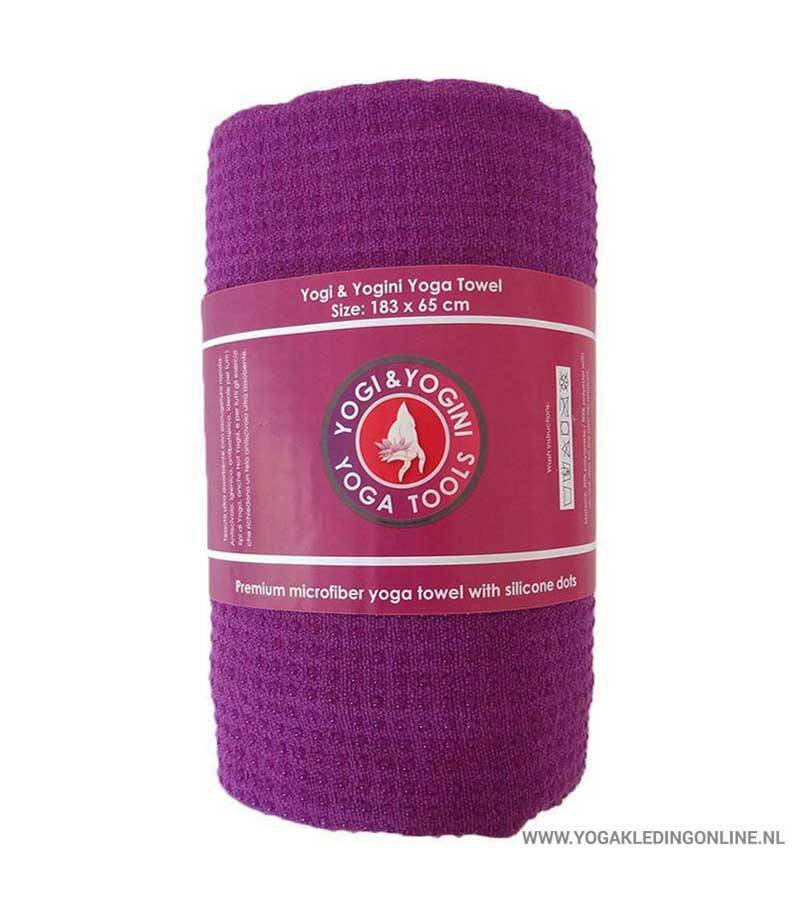 Yogi & Yogini Yoga Handdoek  - Paars