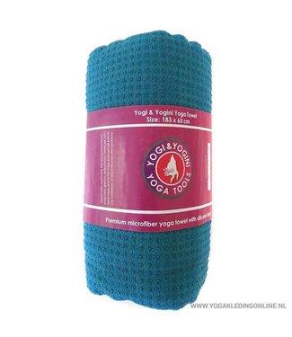 Yogi & Yogini Yoga Handdoek  - Blauw