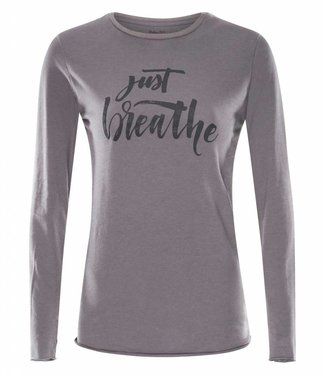 Urban Goddess Yoga Shirt Just Breathe -Volcanic Glass