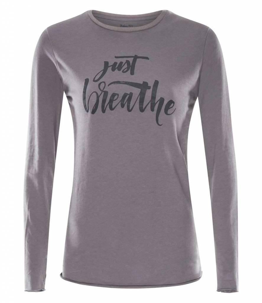 Urban Goddess Yoga Shirt Just Breathe -Volcanic Glass