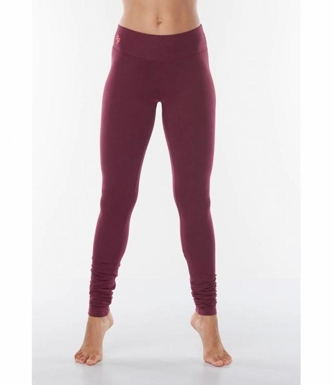 Urban Goddess Yoga Legging Bhaktified - Deep Cherry
