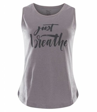 Urban Goddess Yoga Tank Just Breathe -Volcanic Glass