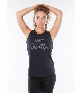 Urban Goddess Yoga Tank Just Breathe - Urban Black