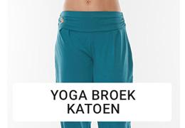 Yoga broek katoen dames