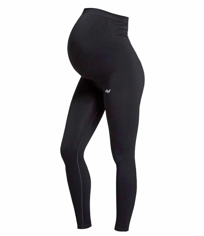 Rohnisch Yoga Legging Maternity Seamless Tights - Black
