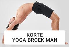 yogabroek heren shorts