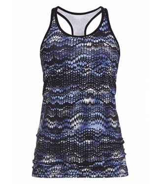 Rohnisch Yoga Top Long Racerback Ocean Ripple - Indigo Night