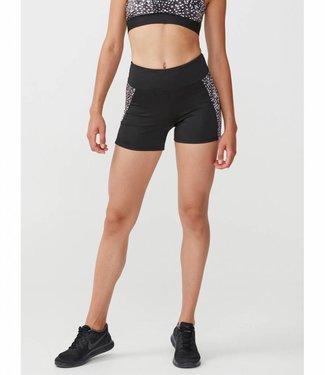 Rohnisch Yoga Hot Pants Cire Cut - Black Dot