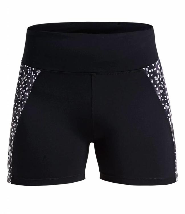 Rohnisch Yoga Hot Pants Cire Cut - Black Dot