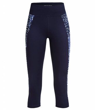 Rohnisch Yoga Capri Legging Cire Cut - Navy Dot