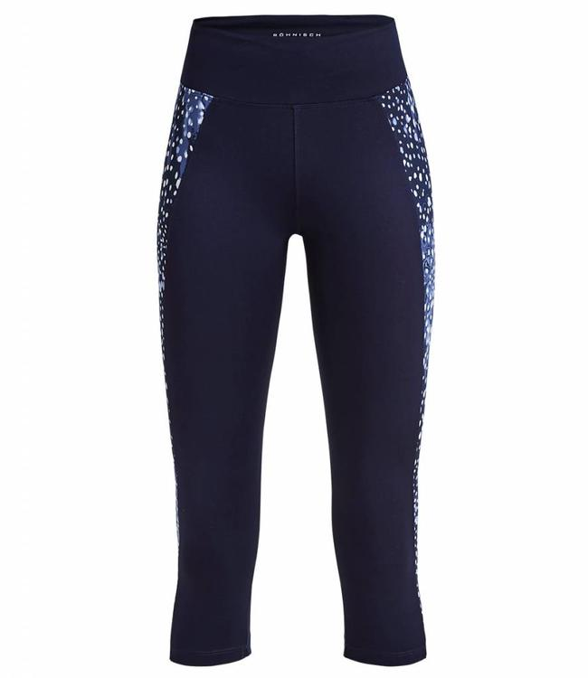 Rohnisch Yoga Capri Legging Cire Cut - Navy Dot